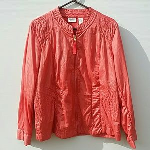 Chico's Jackets & Coats - Chico's Zenergy 3 Coral Orange Quilted Jacket